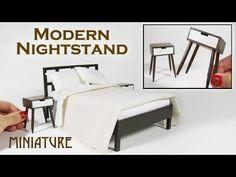 (12) DIY Miniature Nightstand Midcentury Modern - YouTube