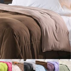 @Overstock - The warmth and comfort of this soft reversible down alternative comforter provides a pampering slumber. Perfect for allergy sufferers, this hypoallergenic comforter also features a plush loft and baffle box stitching to ensure an even fill distribution.http://www.overstock.com/Bedding-Bath/All-Season-Luxurious-Reversible-Down-Alternative-Comforter/5885931/product.html?CID=214117 $44.99