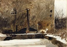 """Winter Dog"" by Andrew Wyeth"