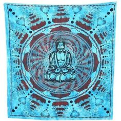 #Buddha printed wallhanging tapestry #buddhist art mandala #ethnic meditate decor,  View more on the LINK: http://www.zeppy.io/product/gb/2/221893601931/