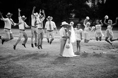 fun wedding party pose