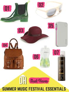 Summer Music Festival Essentials --> http://blog.hgtv.com/design/category/shopping/spring-essentails/?soc=pinterest