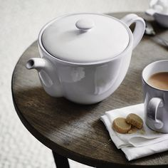Accessorise your dining room table and serve dinner in style by discovering The White Company's collection of high quality tableware. The White Company, Dining Room Table, Home Accessories, Stoneware, Tea Pots, Tableware, Products, Good Morning, Dining Table
