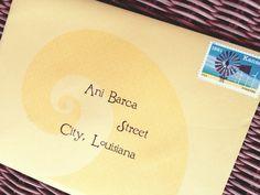 Wizard of Oz - yellow brick road envelope & Kansas stamp | Catch My Party
