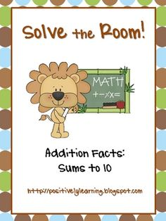 Cute activity with sums to 10!