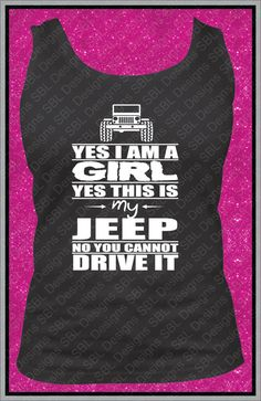 Hey, I found this really awesome Etsy listing at https://www.etsy.com/listing/225872770/jeep-girl-black-tank-top