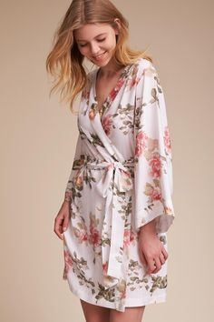 Yumi Kim Morning Light Floral Robe from @BHLDN. I can wear white while the others wear the different colors :)