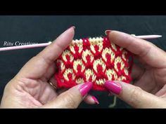 Knitting Double Colour Design # 202 || Latest Hindi Video || बुनाई डिजाईन वीडियो || - YouTube Easy Knitting Patterns, Knitting Stitches, Knitting Projects, Baby Knitting, Crochet Patterns, Half Jacket, Hindi Video, Knit Baby Dress, Boys Sweaters