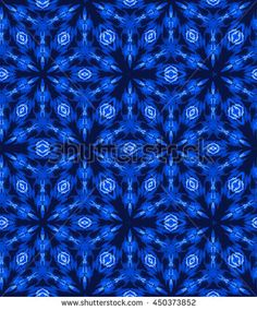 seamless tie dye pattern with shibori origami technique in natural indigo colors. Hand dyed textile, trendy colors and ornaments, dark blue.