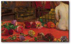 Józef Mehoffer (Polish), Cynie, oil on canvas, 1911 Art Floral, Munier, Digital Museum, Post Impressionism, Art Database, Zinnias, National Museum, Art Day, Insta Art