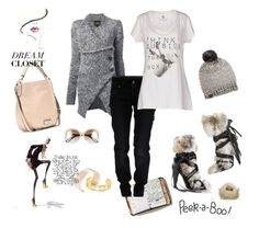 """""""Private wardrobe peek- my damsel in distress look- try this on icy roads, they will catch you"""" by juliabachmann ❤ liked on Polyvore featuring Peek, Marc by Marc Jacobs, Isabel Marant, Vivienne Westwood Anglomania, Galliano, UGG Australia, Daniele Alessandrini, Christian Dior, women's clothing and women's fashion"""