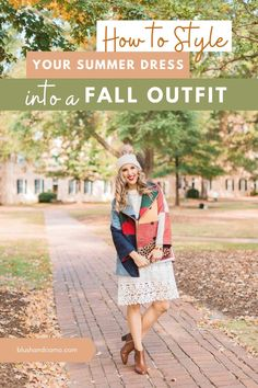 How do you get a super cozy fall outfit without breaking the bank? Style a summer dress into a fall outfit! I have your step by step inspiration to elevate your fall style! #styletip #fallvibes #elevateyourstyle