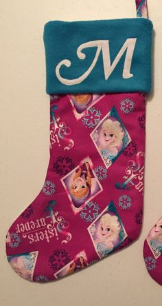 Frozen Sisters Are Forever Christmas Stocking by MLGsCrafts on Etsy