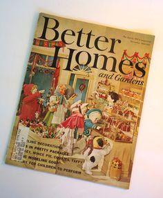 Vintage Better Homes and Gardens Magazine December 1961 Christmas