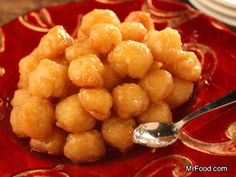 Italian Honey Balls | mrfood.com These arensuch a yummy treat without being too sweet..really!