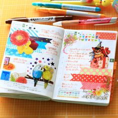 ほぼ日手帳, Japanese planner with washi