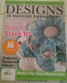 Designs in Machine Embroidery Magazine - Vol. 68, May / June 2011  Discover the lowest prices on magazine back issues at ivanhoe.ecrater.com. THE EBAY ALTERNATIVE!