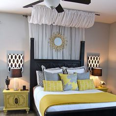 see the swag above the bed? I need that in my place!