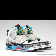meet e4ba1 ea0c4 Jordan Son of Mars w  pop art design and Olympic colourway.