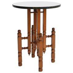 Turned Oak Side Table