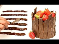 Easy Chocolate Decoration Cake by CakesStepbyStep - YouTube