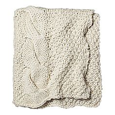 Cozy Gift: Alicia Adams Chunky Knit Throw – Ivory | Serena & Lily    I need a good throw for my couch days...which today is quickly becoming.