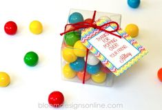 Easy Party Favors and free tags
