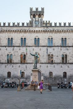 Piazza Mazzini at Chiavari, Liguria_ Italy