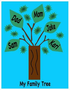 Sunday Schoolhouse Series Activity - Red Unit Lesson Abraham and Sarah Promised a Child (Genesis - Family Tree Craft - . Family Tree For Kids, Trees For Kids, Family Tree Art, Family Tree Crafts, Toddler Art Projects, Toddler Crafts, Projects For Kids, Crafts For Kids, Easy Crafts