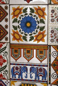 tiles from india - gujarat (ok, not entirely square, but wasn't sure where else to put this without creating yet another board :-)
