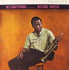 "Miles Davis: Milestones Label: Columbia 1193 12"" LP 1958 Photo: Dennis Stock"