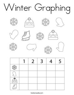 Winter Graphing Coloring Page - Twisty Noodle Coloring Pages Nature, Coloring Pages Winter, Winter Is Here, Winter Colors, Kids Prints, Cursive, Book Pages, Mini Books, Noodle