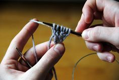 tutorial from Stephen West on the garter tab cast on - for starting the corner beginning of a shawl