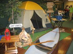 Love the tent and the boat... I'm going to need a very large classroom.