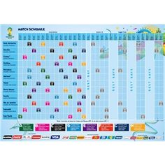 2014 FIFA World Cup Match Schedule Poster - The Official FIFA Online Store