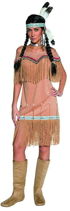 Western Indian Princess Dress Indian Costume Adult FREE USA SHIPPING 36127 #Smiffys #Dress
