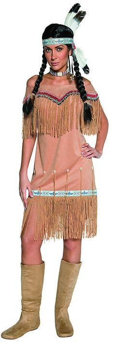 Western Indian Princess Dress Indian Costume Adult FREE USA SHIPPING 36127 #Smiffys #Dress