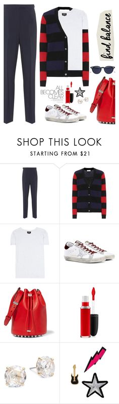 """""""SuperStar ⭐️ ⭐️ ⭐️"""" by jacque-reid ❤ liked on Polyvore featuring A.P.C., Equipment, Golden Goose, Alexander Wang, MAC Cosmetics, Kate Spade, Lydell NYC and Thom Browne"""