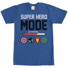 Marvel Super Hero Mode Royal Blue T-Shirt