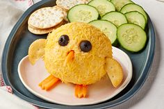 Kraft Recipes Magazine (Spring Baby Chick Bacon Cheese Ball - Start your next party out right with our Baby Chick Bacon Cheese Ball recipe. This adorable Baby Chick Bacon Cheese Ball will be the hit of the event. Easter Appetizers, Recipes Appetizers And Snacks, Cheese Appetizers, Easter Desserts, Easter Snacks, Easter Food, Hoppy Easter, Easter Treats, Easter Cupcakes