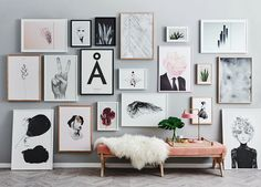 dream gallery wall (and that flower-head print!)
