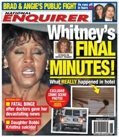 can't say anything nice about Whitney but claim to love her so much the media and news only care when you die !!!