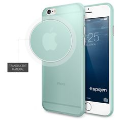 iPhone 6 Case, Spigen® [0.4mm Thin] iPhone 6 (4.7) Case Slim **NEW** [Air Skin] [Mint] Premium Super Lightweight / Perfect Fit / Absolutely NO Bulkiness Hard Case for iPhone 6 (4.7) (2014) - Mint (SGP11080):Amazon:Cell Phones & Accessories