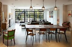 House Ealing - traditional - Dining Room - London - Stiff and Trevillion Cool Cafe, Industrial Windows And Doors, Style At Home, Steel Frame Doors, Loft, Victorian Homes, Modern Victorian, Open Plan, Decoration
