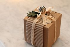 Check out this post at From Scratch for more ideas for gift wrap you may already have in your home!