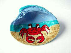 Hand+painted+clamshell+coastal+home+decor+by+beachseacrafts,+$15.00