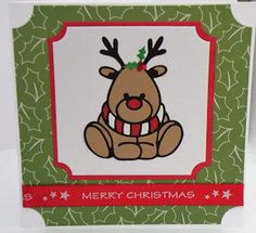 reindeer die using tonic dies Tonic Christmas Cards, Christmas Cards To Make, Xmas Cards, Christmas Crafts, Happy Penguin, Tonic Cards, Studio Cards, Pop Up Box Cards, Snowflake Cards