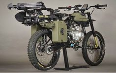 This #survivalbike may be the coolest bike ever.  by autoevolution.com. - - - - - - - - #wytac #wyvernoutfitters #overland #overlanding #GetLost #getoutside #getoutdoors #badass #camping #bugout #wildernessculture #adventure #modernoutdoorsman #theoutbound #themodernvoyage #doyoutravel #awesomeearth #ourplanetdaily #travel #nakedplanet