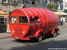 STRANGE RED BARREL TRUCK!