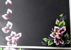 Cọ bản Uñas One Stroke, One Stroke Nails, One Stroke Painting, Tole Painting, Fabric Painting, Diy Painting, Flower Nail Designs, Flower Nail Art, Acrilic Paintings